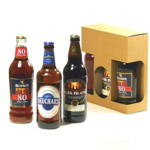 Gift selection of tasty Scottish Beers