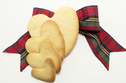 Shortbread hearts - our Scottish Food Christmas hampers are getting personal