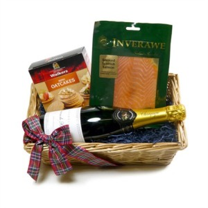 Salmon and Champagne Christmas Hamper