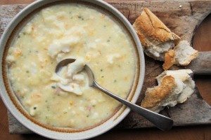 Cullen Skink the Lavendar and Lovage way…….with Smoked Whiting