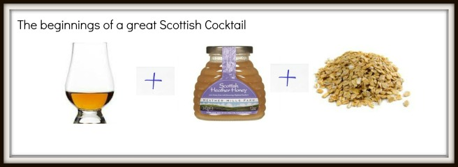 Three ingredients for Atholl Brose