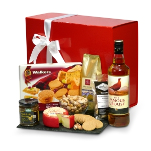 Savoury treats and whisky hamper