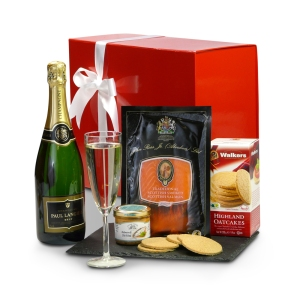 Smoked Salmon and Champagne Gift Box
