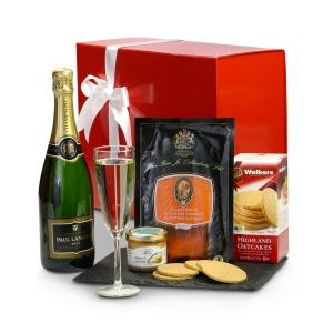 Smoked Salmon and Champagne Gift Box