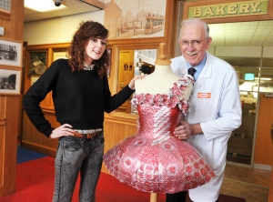 Amber McDowell with Boyd Tunnock, CEO of Tunnocks